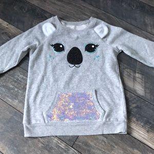 Justice size 12 sweatshirt with flip sequins!